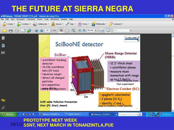 THE FUTURE AT SIERRA NEGRA