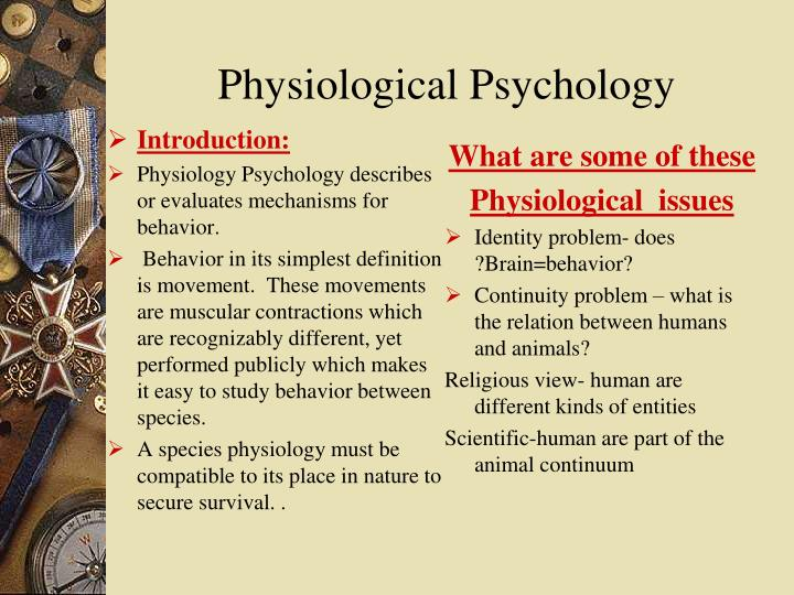 phisiological psychology essay Physiological psychology we will write a custom essay sample on physiological psychology focuses on the relationship between our biological makeup and our behaviour and.