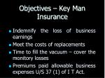 objectives key man insurance