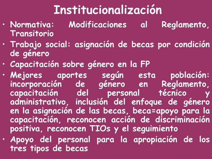 Normativa: Modificaciones al Reglamento, Transitorio