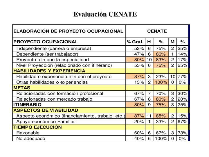 Evaluación CENATE