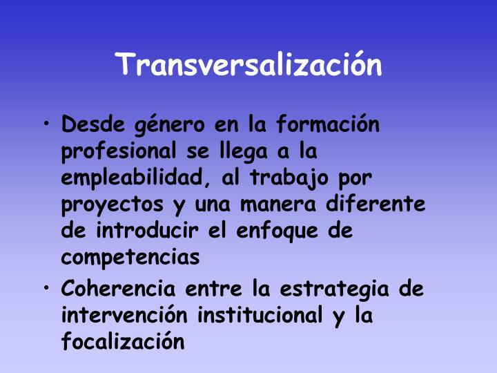 Transversalización