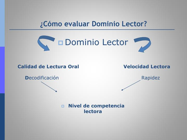 ¿Cómo evaluar Dominio Lector?