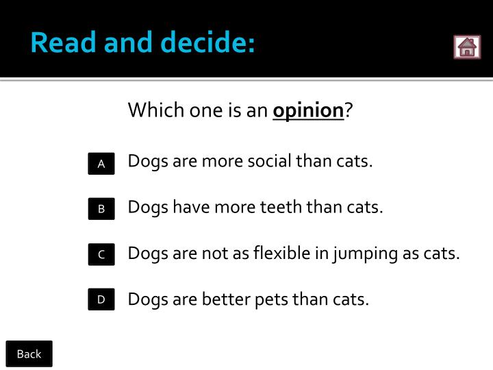 Read and decide: