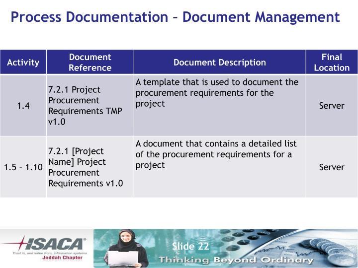 Process Documentation – Document