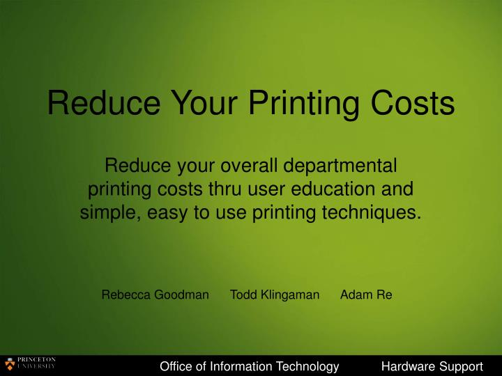 reduce your printing costs n.