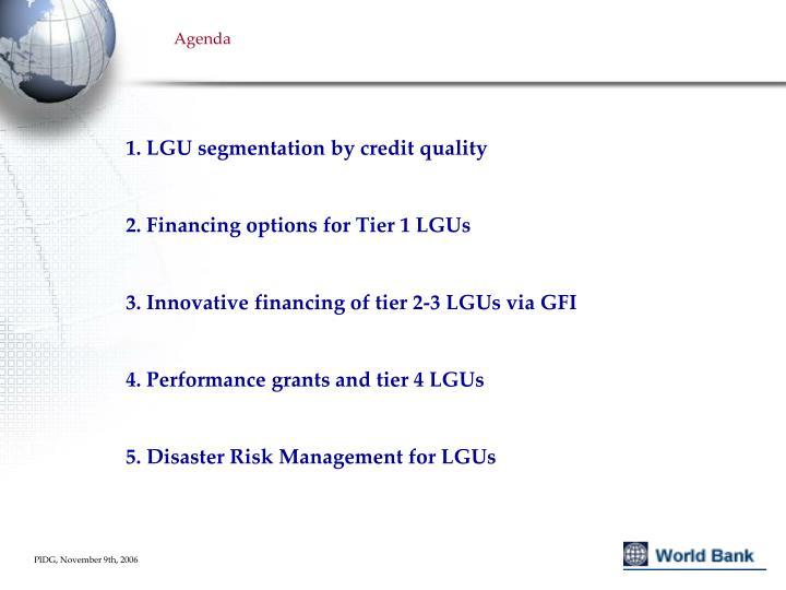 1. LGU segmentation by credit quality