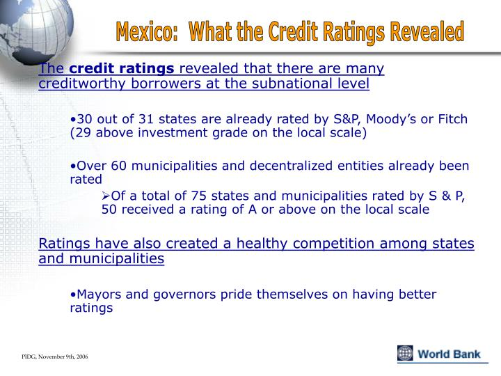Mexico:  What the Credit Ratings Revealed