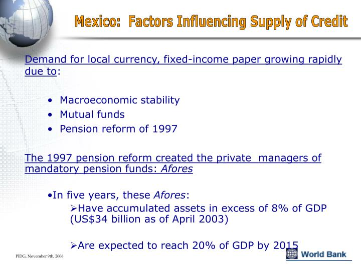 Mexico:  Factors Influencing Supply of Credit