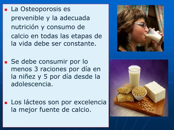 La Osteoporosis es