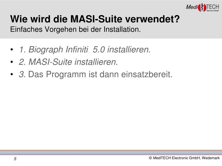 Wie wird die MASI-Suite verwendet?