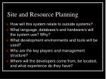 site and resource planning1