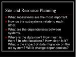 site and resource planning2