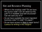 site and resource planning3