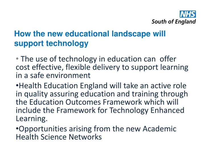 How the new educational landscape will support technology