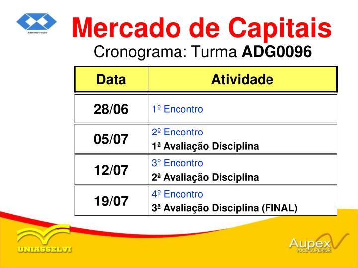 Cronograma turma adg0096