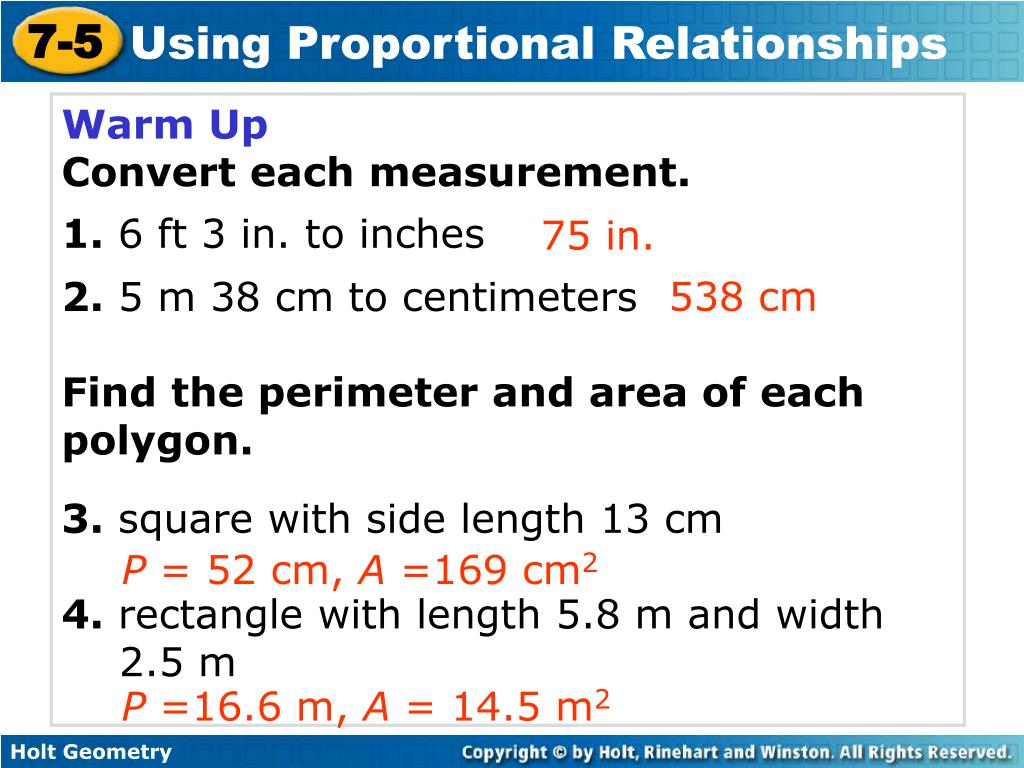 Ppt Warm Up Convert Each Measurement 1 6 Ft 3 In To Inches 2 5