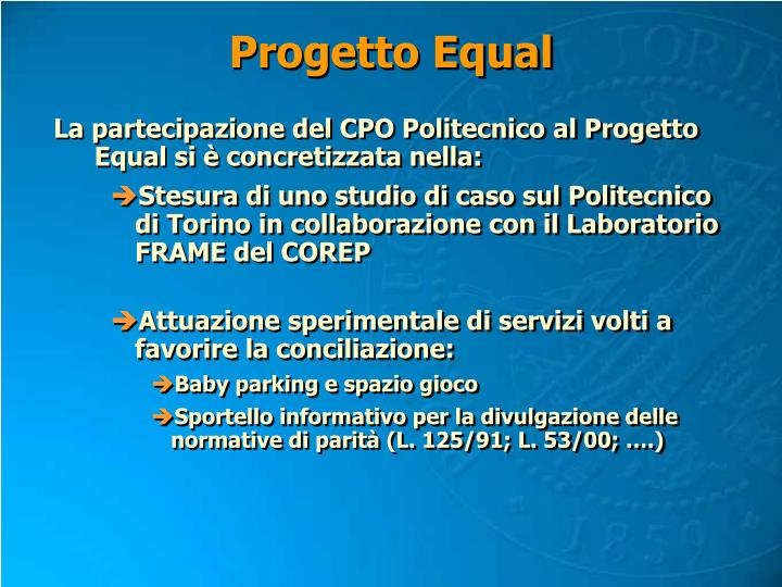 Progetto Equal