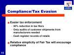 compliance tax evasion