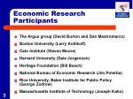 economic research participants