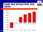 fair tax effective tax rate