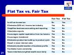 flat tax vs fair tax