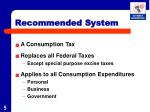 recommended system