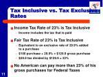 tax inclusive vs tax exclusive rates