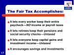 the fair tax accomplishes
