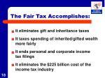 the fair tax accomplishes1