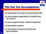 the fair tax accomplishes2