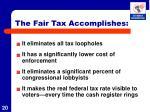 the fair tax accomplishes3