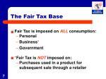 the fair tax base