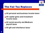 the fair tax replaces