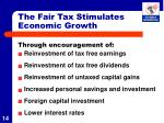 the fair tax stimulates economic growth