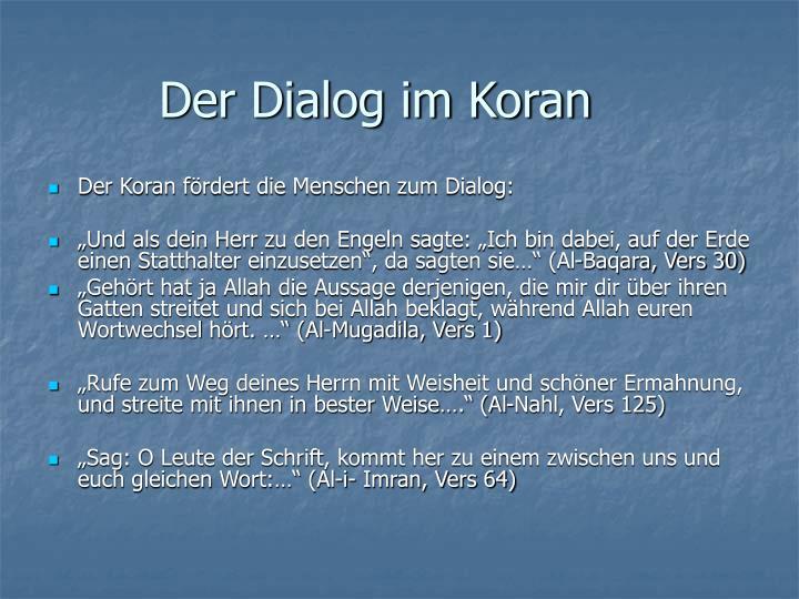 Der Dialog im Koran