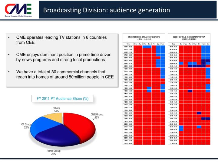 Broadcasting Division: audience generation