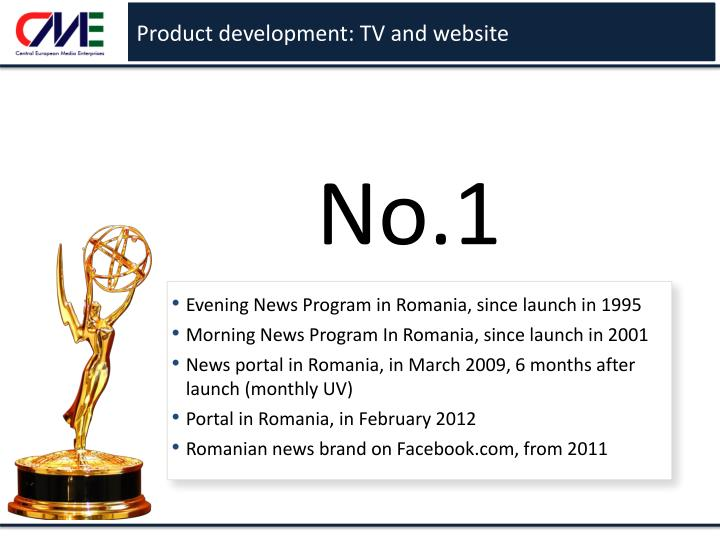 Product development: TV and website