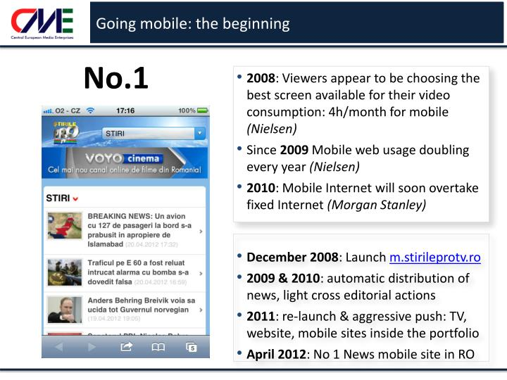 Going mobile: the beginning