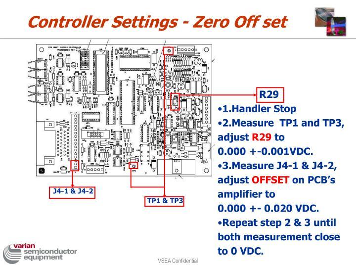 Controller Settings - Zero Off set