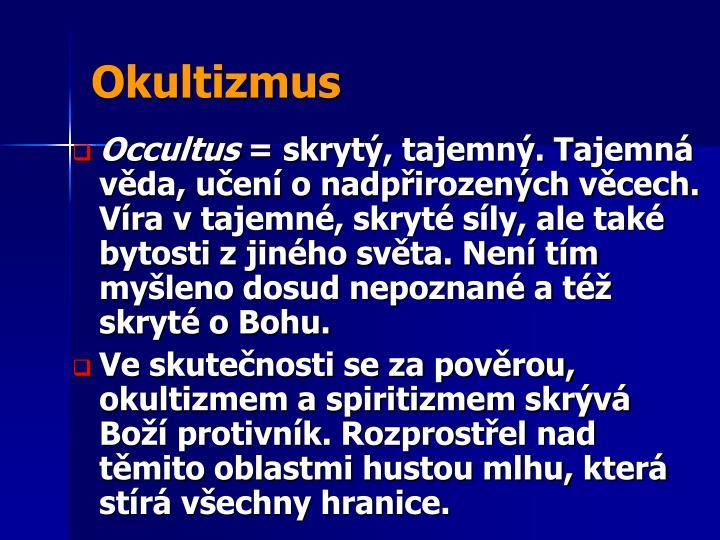 Okultizmus