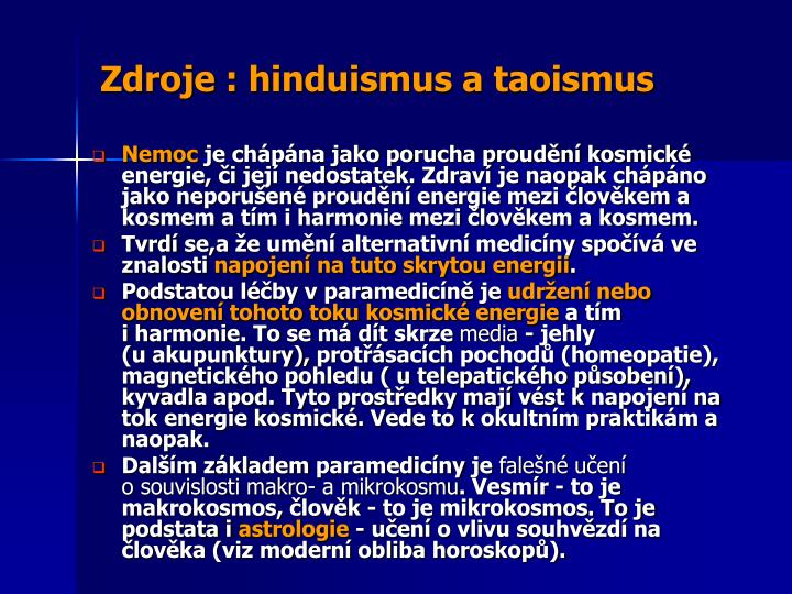 Zdroje :hinduismus a taoismus