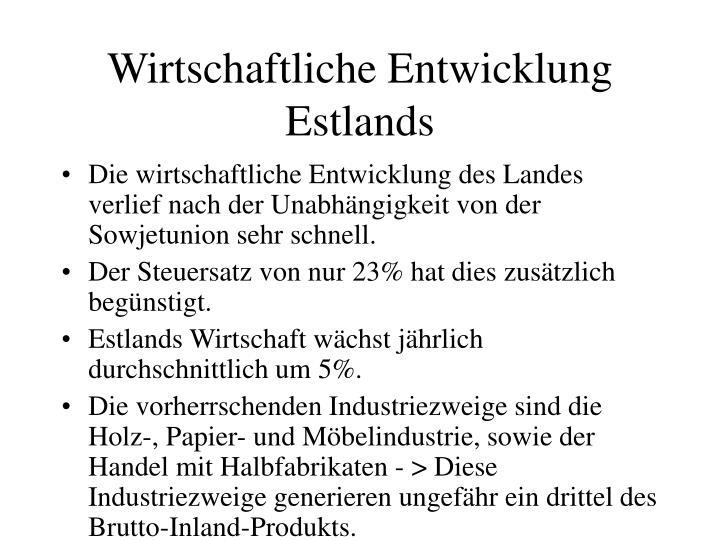 Wirtschaftliche Entwicklung Estlands