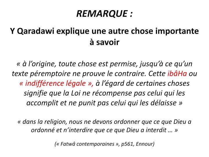REMARQUE :
