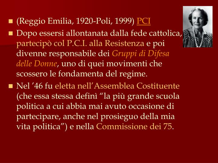 (Reggio Emilia, 1920-Poli, 1999)