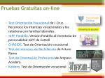 pruebas gratuitas on line