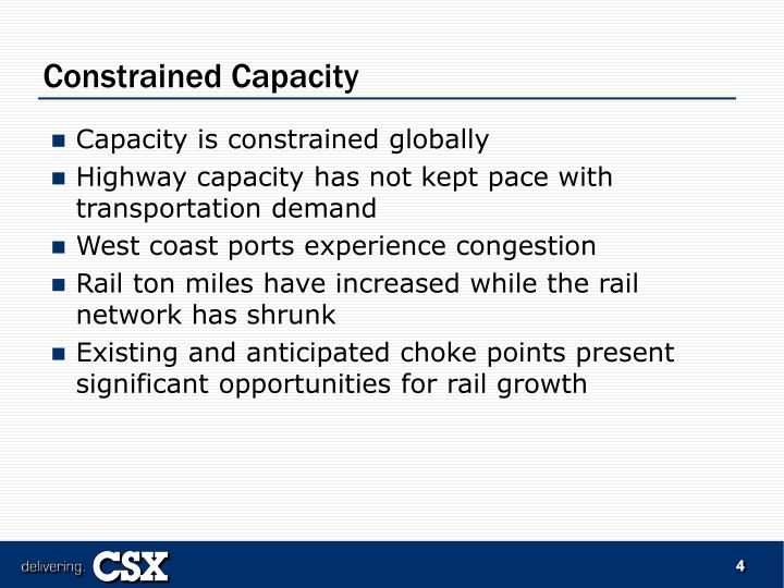 Constrained Capacity