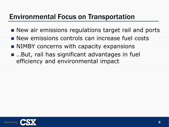Environmental Focus on Transportation