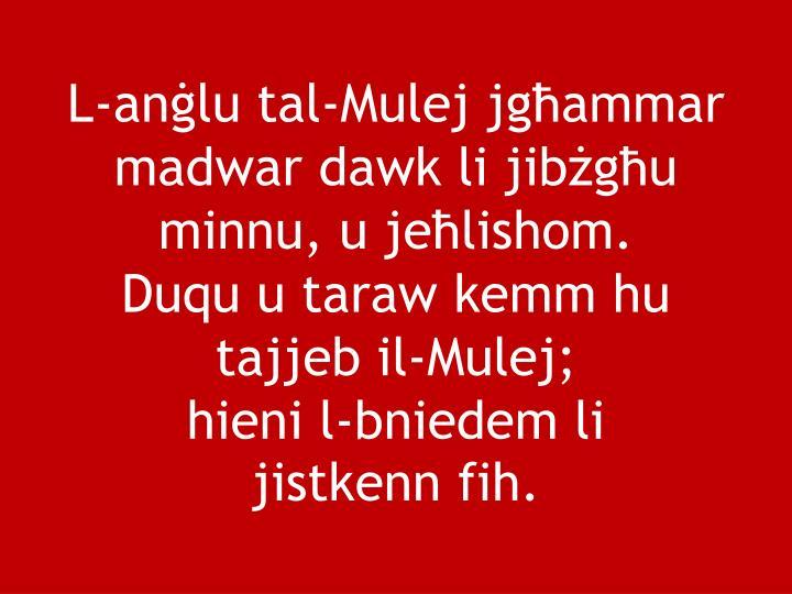 L-anġlu tal-Mulej jgħammar madwar dawk li jibżgħu minnu, u jeħlishom.