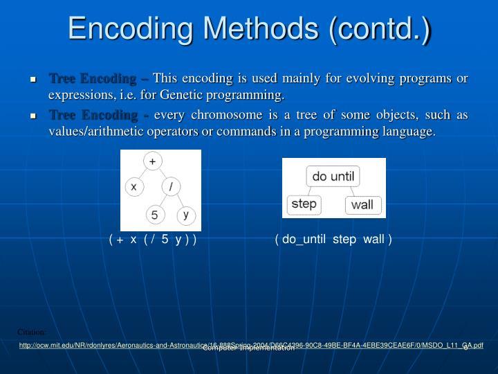 Encoding Methods (contd.)